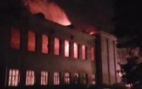 В Одессе произошел взрыв и пожар в здании Минобороны