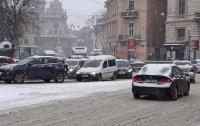 Снежный коллапс наступил во Львове (видео)