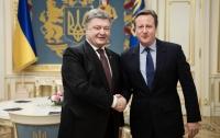 Порошенко обсудил с Кэмероном санкции против России