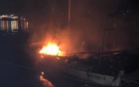 В Одесской области сгорела яхта депутата