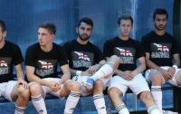Грузинские футболисты вышли на поле в антироссийских футболках