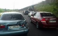 В Запорожье бетономешалка протаранила четыре авто