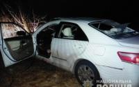 На ходу взорвалась машина