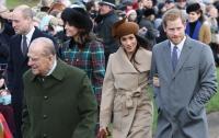 Меган Маркл впервые показалась на публике рядом с членами королевской семьи