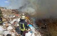 В Киеве горит свалка предприятия