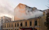 В Подольском районе Киева произошел пожар в офисном здании