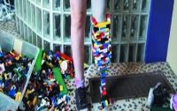 Девушка собрала себе ногу из конструктора (ВИДЕО)