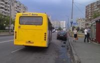 В Киеве женщина выпала на ходу из маршрутки из-за