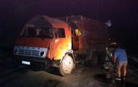 В Днепропетровской области перевернулся грузовик с опасными химикатами