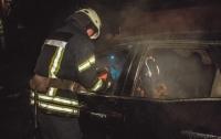 Выгорел салон: в Киеве вспыхнула иномарка