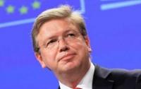 Фюле назвал условия выхода из кризиса в Украине