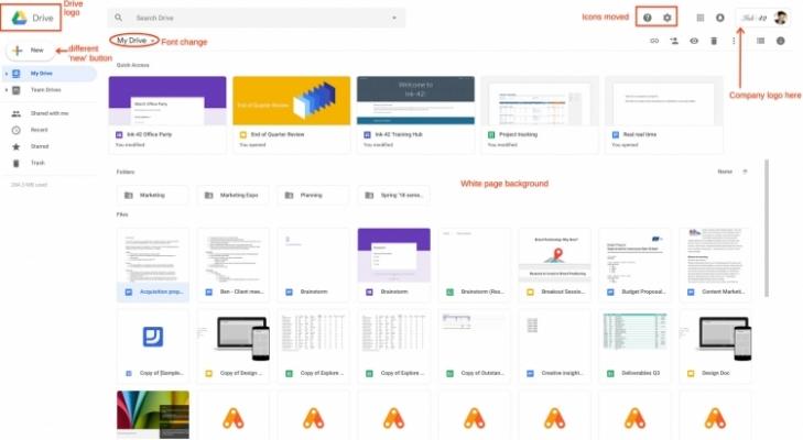 Google Drive сделали неменее похожим наGmail подизайну