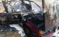 В Херсонской области на ходу вспыхнуло авто с людьми