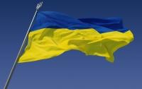 В Крыму подняли украинский флаг (видео)