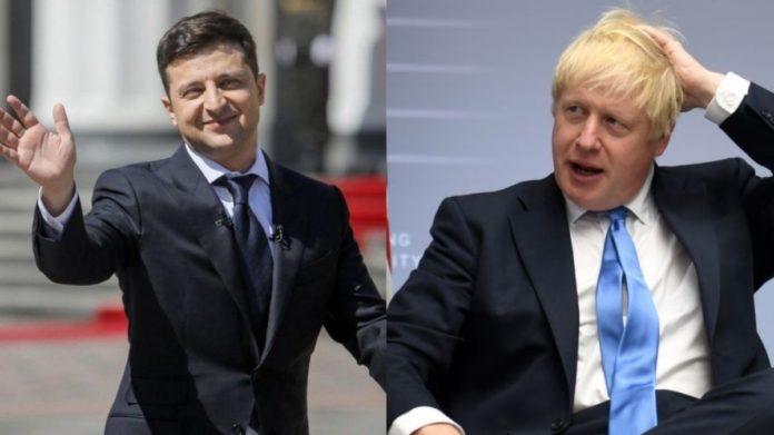 Зеленский поговорил по телефону с премьером Британии