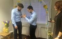 Первая церемония бракосочетания однополой пары прошла в Киеве