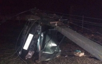 Молодой водитель чудом остался жив, хоть и снес несколько столбов на своем пути