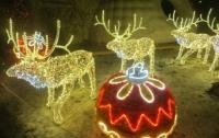 Стильный Санта Клаус осчастливил жителей столичного района (видео)