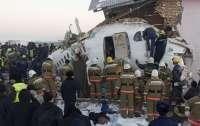 Опубликовано видео с рухнувшим на дома в Казахстане самолетом