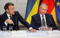 Путин и Макрон обсудили ситуацию на Донбассе