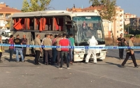 В Турции подорвали автобус: есть пострадавшие (видео)