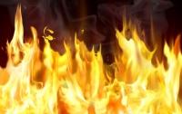 В Киеве разгорелся пожар на СТО