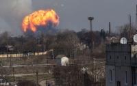 На Харьковщине произошел пожар на складе боеприпасов