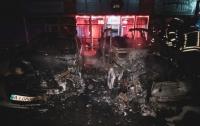 На столичных Позняках сгорел элитный Porsche