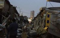 Ночью тракторы в Киеве разгромили рынок