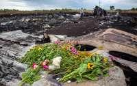 Семьи погибших при падении Boeing 777 разложили 298 стульев у посольства РФ в Гааге