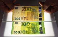 В ЕС представили новые купюры 100 и 200 евро
