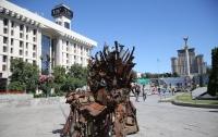 Арт-объект из обломков снарядов установили на Майдане Независимости