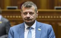 Нардеп Мосийчук предупредил, что в случае нападения на его автомобиль откроет огонь на поражение