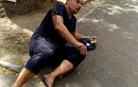 Убегая от преследователя в Одессе, вор сломал ногу