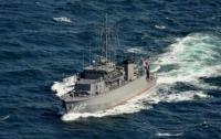 Минный тральщик ВМС Японии столкнулся с сухогрузом