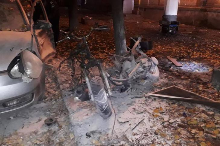 Взрыв вКиеве: изголовы раненой женщины достали осколки икости