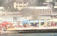 На пляже Аркадия в Одессе горело кафе
