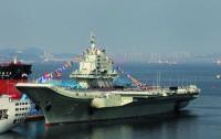 Китайский авианосец начинает испытания в море на значительном расстоянии