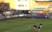 Болельщики устроили массовую драку прямо во время матча (видео)