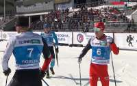 Российский лыжник ударил палкой своего соперника уже после финиша