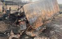 Показали автомобиль военных, который подорвался на Луганщине