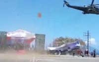 Ми-35 снес трибуны на военном параде в Индонезии