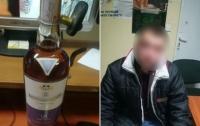 Мужчина попытался вынести из супермаркета алкоголь на 5 тысяч гривен