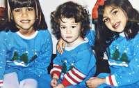 Опубликованы новогодние детские фото сестер Кардашьян