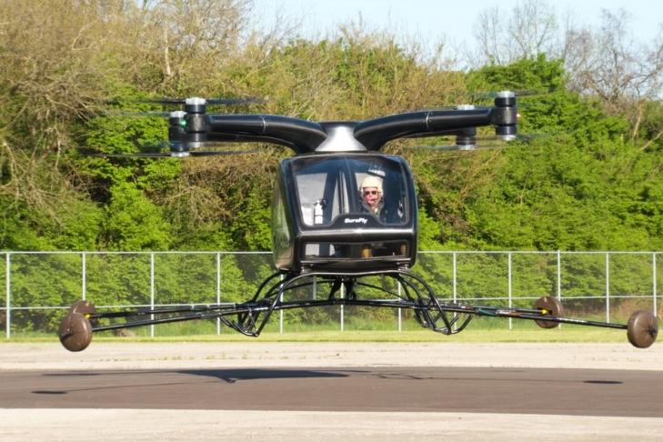 Прошел 1-ый успешный полет пассажирского дрона SureFly