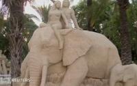 Выставка песочных скульптур - от царя Соломона до Тарзана (ВИДЕО)