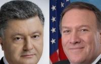Помпео подтвердил поддержку Украины в разговоре с Порошенко