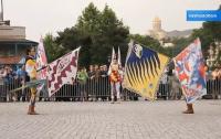 На тбилисском Мейдане устроили шоу итальянские знаменосцы (ВИДЕО)