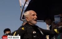 Самый старый аквалангист установил новый рекорд (видео)
