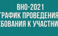 ВНО-2021: график проведения и требования к участникам